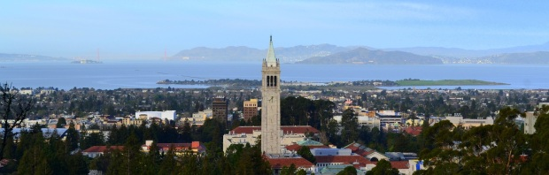 Aerial View of the UC Berkeley Campus & Sather Tower